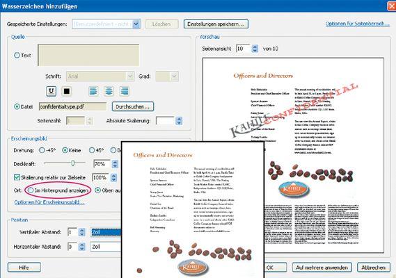 Richtige Konfiguration eines PDF Druckers