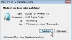Doppelklick auf Installer Datei