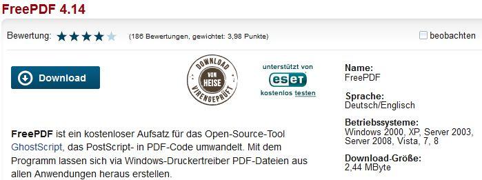 FreePDF 4.14 Download